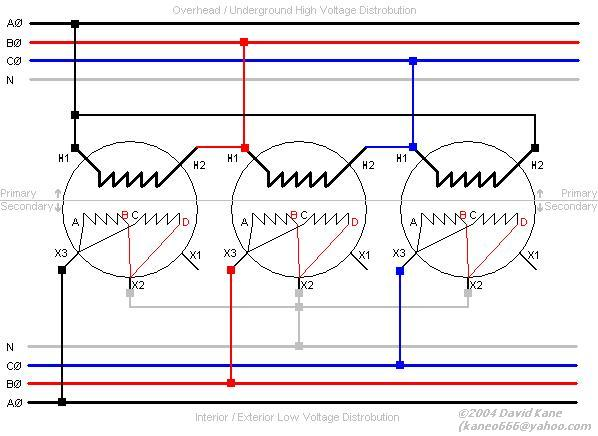 3ph_delta_wye 3 phase transformer connections delta to wye transformer wiring diagram at webbmarketing.co